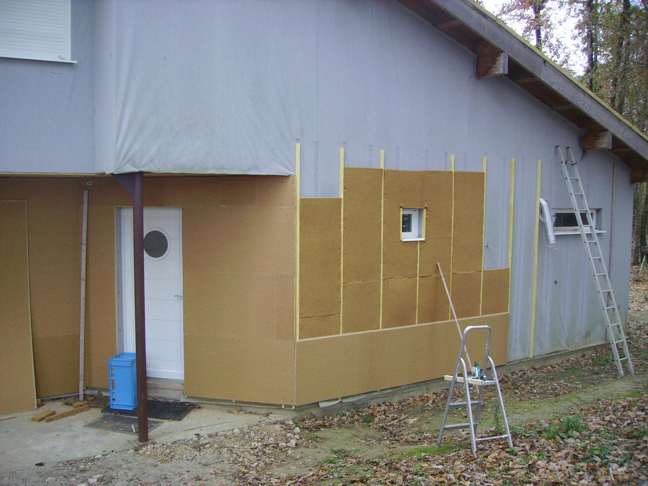 3 une maison bioclimatique en tout cas un peu la petite histoire d une - Isolation exterieure laine de bois ...